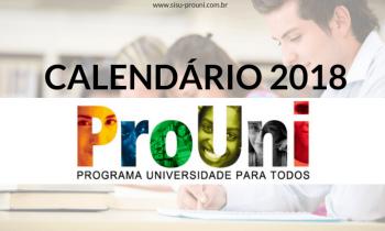 Calendário Prouni 2018