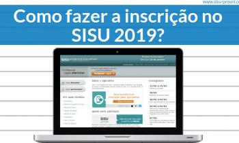 Como fazer a inscrição no SISU 2019?