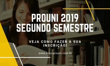 ProUni 2019 – Segundo Semestre