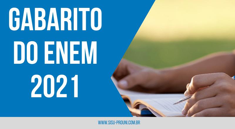 Gabarito ENEM 2021