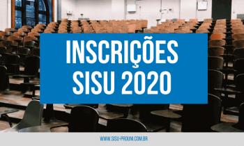 Inscrições SISU 2020 – Veja como fazer a sua agora!