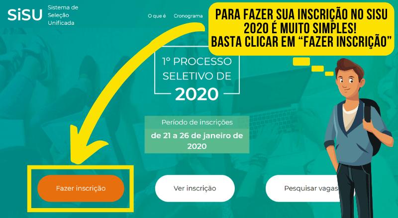 Inscrições SISU 2020 Passo 1